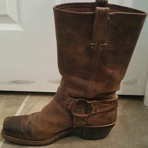 Frye Harness Square Toe Motorcycle BOOT 7 M